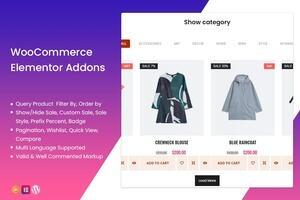 TFProduct -WooCommerce Elementor 产品显示可视化设计插件
