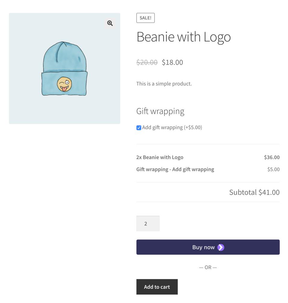 WooCommerce Product Add ons 商城产品附加服务插件