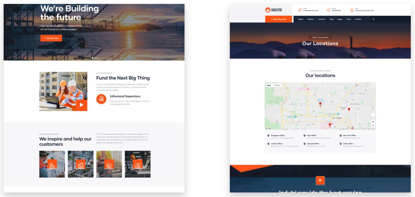Indutri – 工厂和制造工业WordPress主题