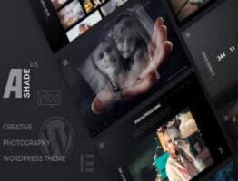 Ashade – WordPress摄影作品创意产品展示网站主题
