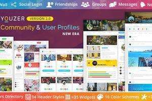Youzify(Youzer)汉化版-WordPress Buddypress社区和用户配置插件