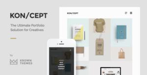 KON/CEPT -创意作品展示wordpress主题