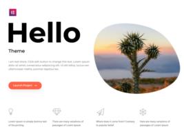 Hello Theme -为Elementor而生的简洁轻量化wordpress主题