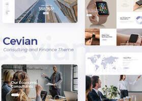 Cevian深度汉化-WordPress高端企业建站带商城创意主题