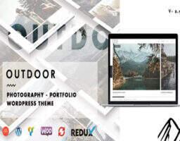 Outdoor 深度汉化-摄影图片作品展示、博客商城WordPress主题
