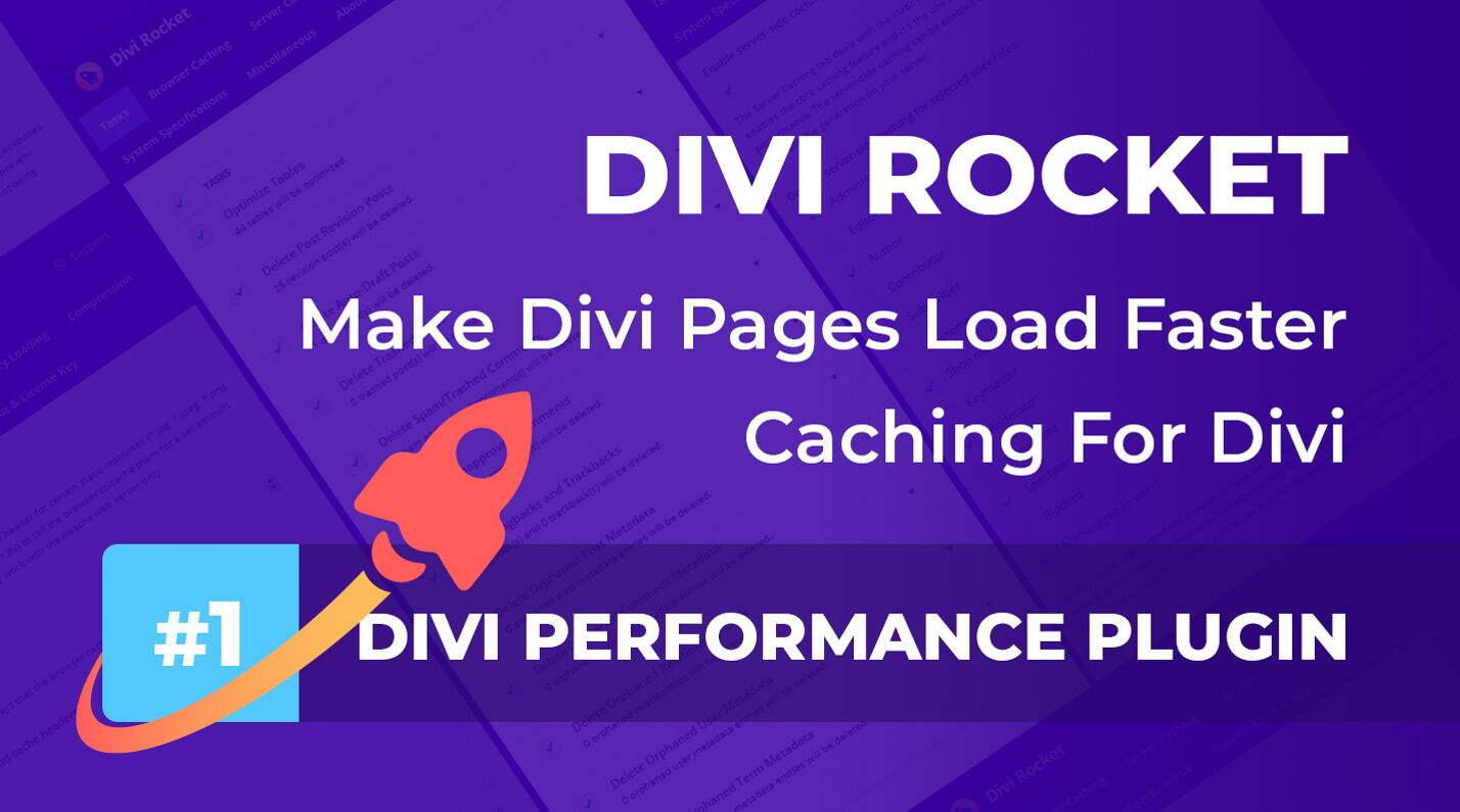 Divi Rocket 汉化版 -Divi主题的缓存优化加速插件