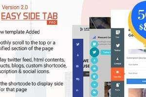 Easy Side Tab Pro 汉化版 -WordPress侧边浮动标签插件插件