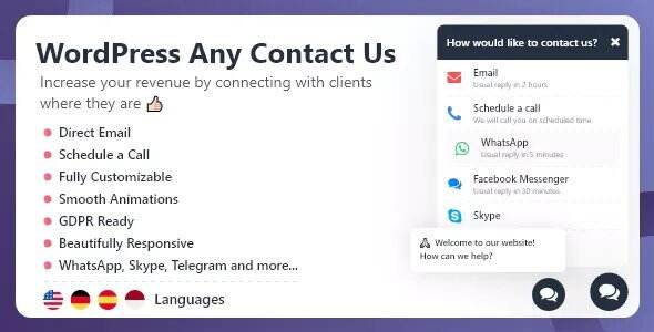 WordPress Any Contact Us汉化版 -WordPress 联系我们 插件