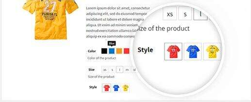 YITH WooCommerce Color and Label Variations 使用效果