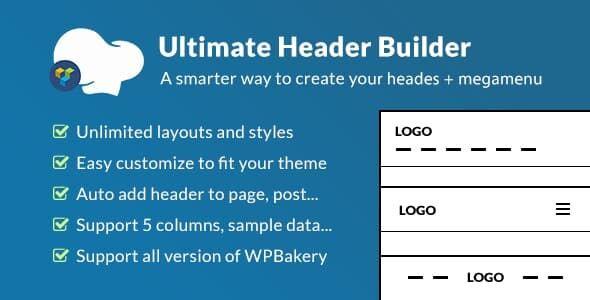 Ultimate Header Builder -网站页眉定制器WPBakery扩展插件