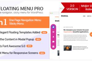 WP Floating Menu Pro -WordPress侧边栏浮动菜单插件