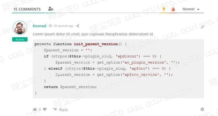 wpDiscuz  Syntax Highlighter 为wpDiscuz评论内容中涉及代码部分内容高亮显示