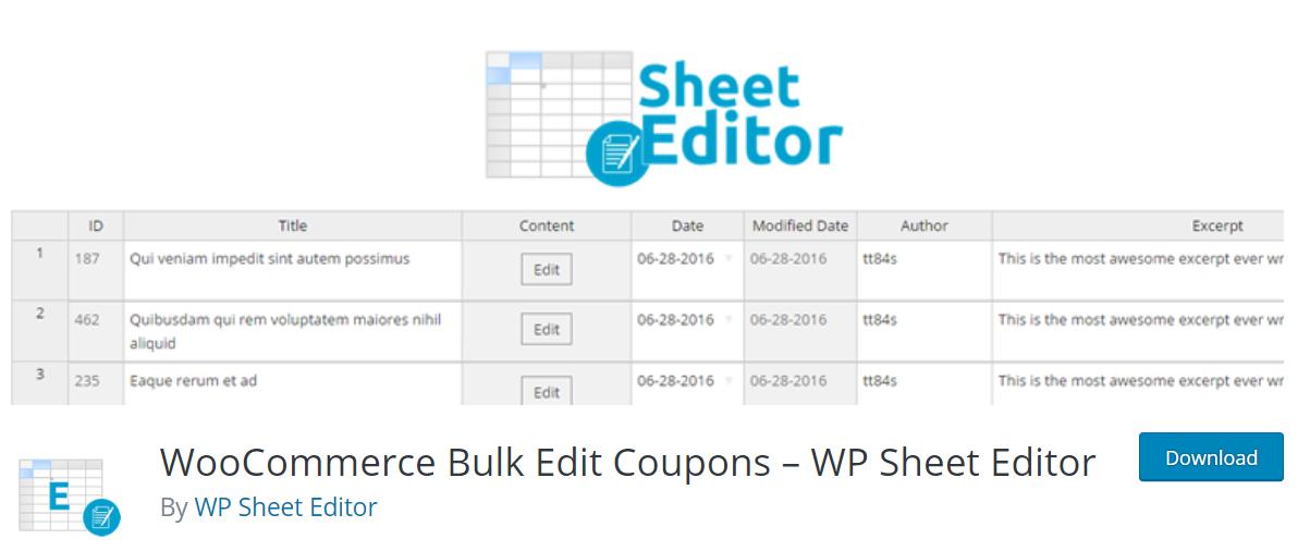 WP Sheet Editor汉化版-WordPress自定义编辑插件