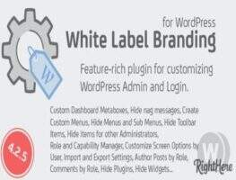 White Label Branding for WordPress -elementor白标签插件