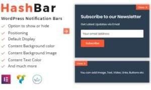 HashBar Pro -公告通知栏wordpress插件