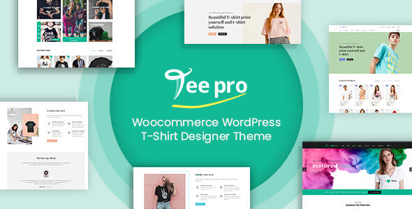 Shirt Pro主题-定制设计T恤衫WooCommerce主题