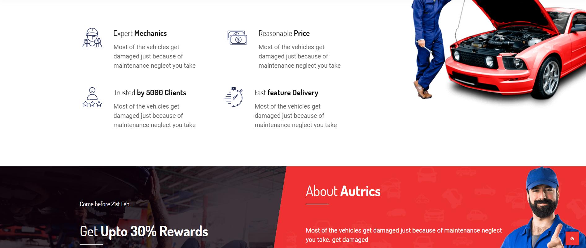 Autrics-汽车服务和汽车修理工WordPress主题